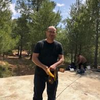 Miquel treballant